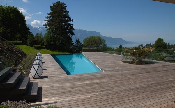Décoration villa avec vue sur le lac